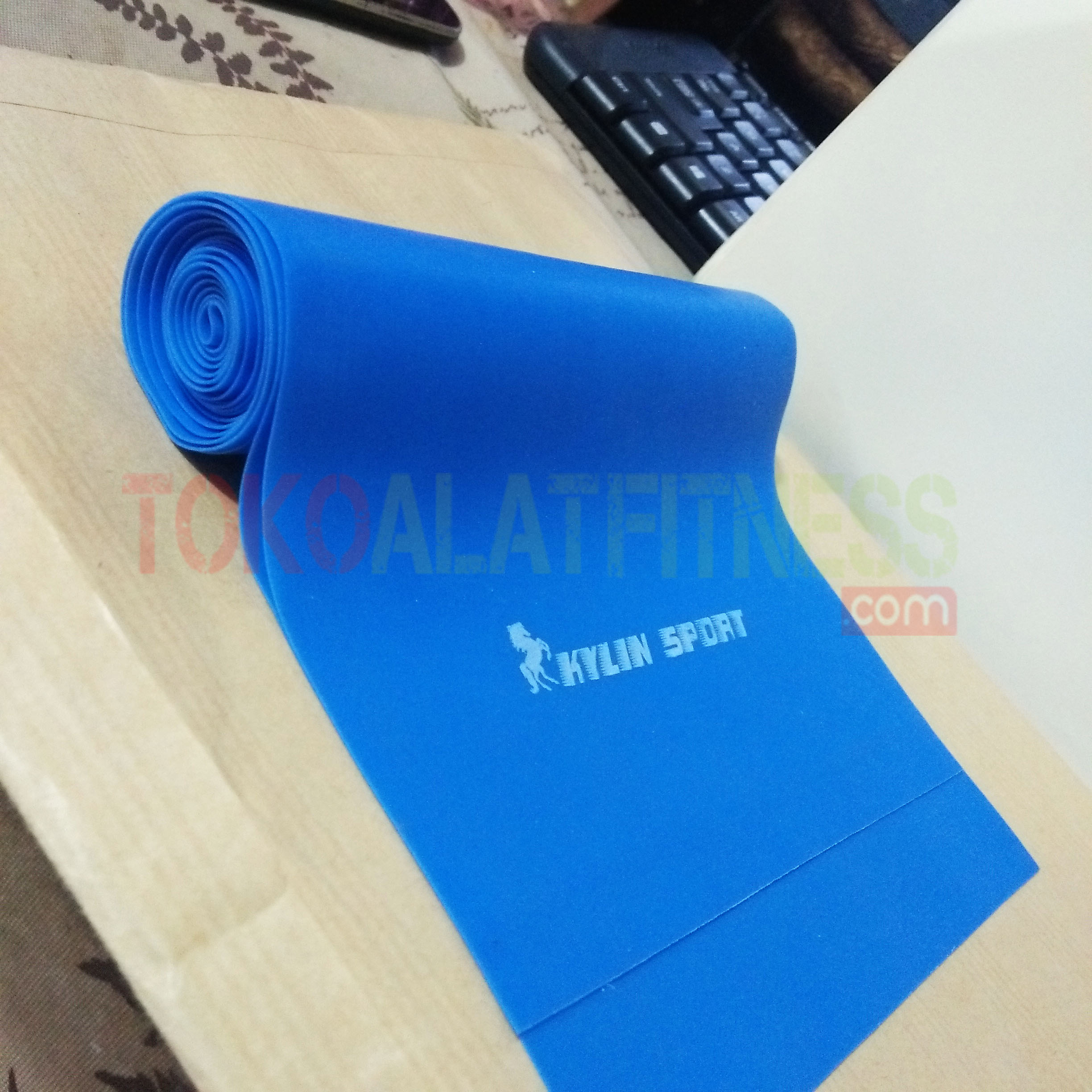 FA LATEX BIRU 2 - Latex Stretching Belt Pull Strap 2m, 0.6mm, Biru Body Gym