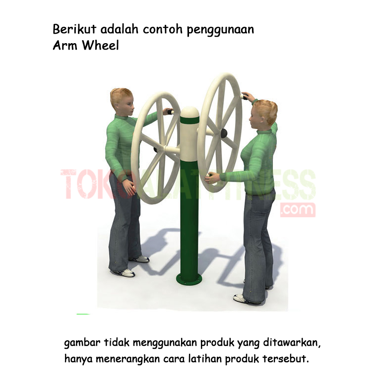 arm wheel - Alat Fitness Outdoor - Double Arm Wheel AF0-15 Body Gym