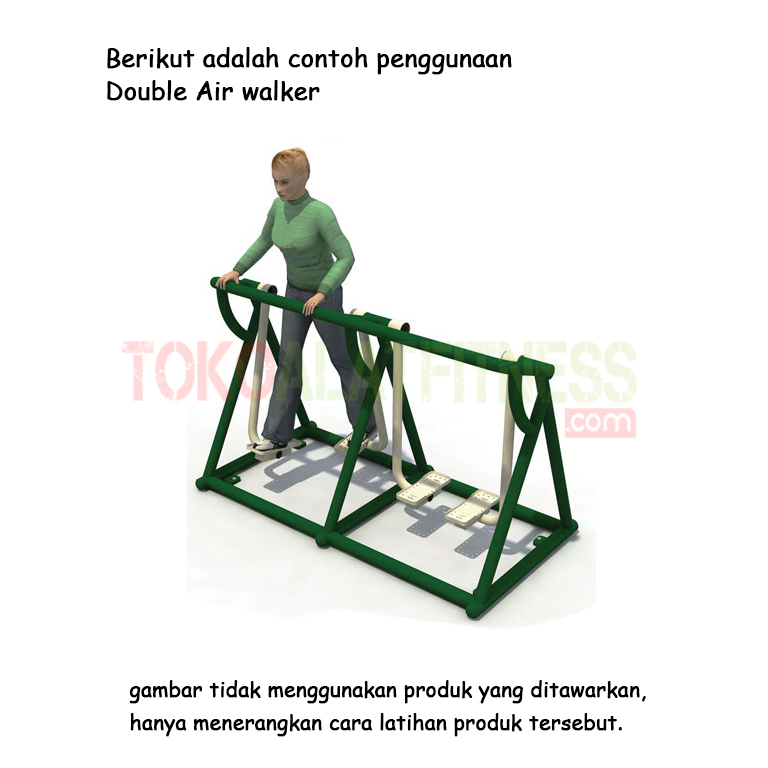 double air walker - Alat Fitness Outdoor - Doubel Air Walker A AFO-11 Body Gym