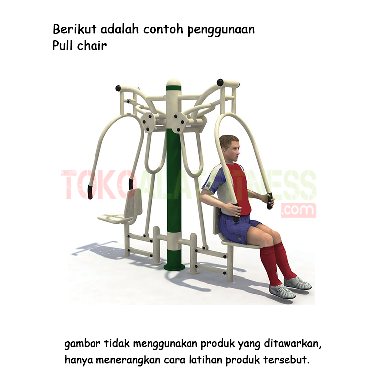 pull up chairr - Alat Fitness Outdoor - Double Pull Chair AFO-12 Body Gym