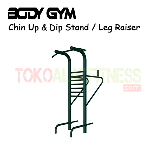 AFO 30 Alat Fitness Outdoor Chin Up Dip Stand Leg Raiser - Alat Fitness Outdoor – Chin Up & Dip Stand AFO-30 Body Gym