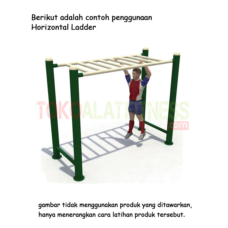 Horizontal Ladder 1 - Alat Fitness Outdoor - Horizontal Ladder AFO-38 Body Gym