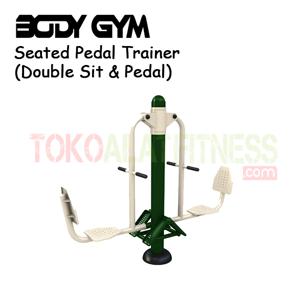 Seated Pedal Trainer Double Sit pedal - Alat Fitness Outdoor – Double Sit & Pedal AFO-08 Body Gym