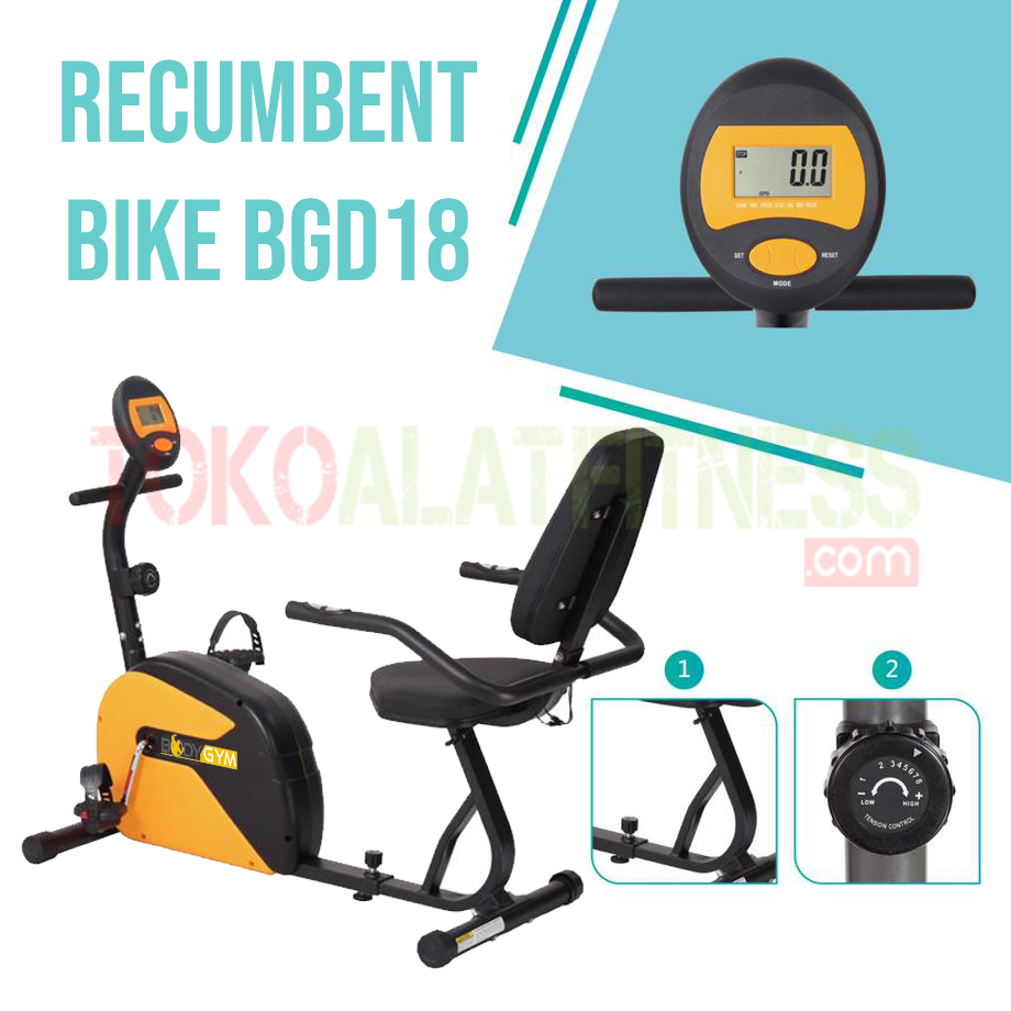 RECUMBENT BIKE BGD18 SPEK WTM - Sewa Recumbent Bike Body Gym