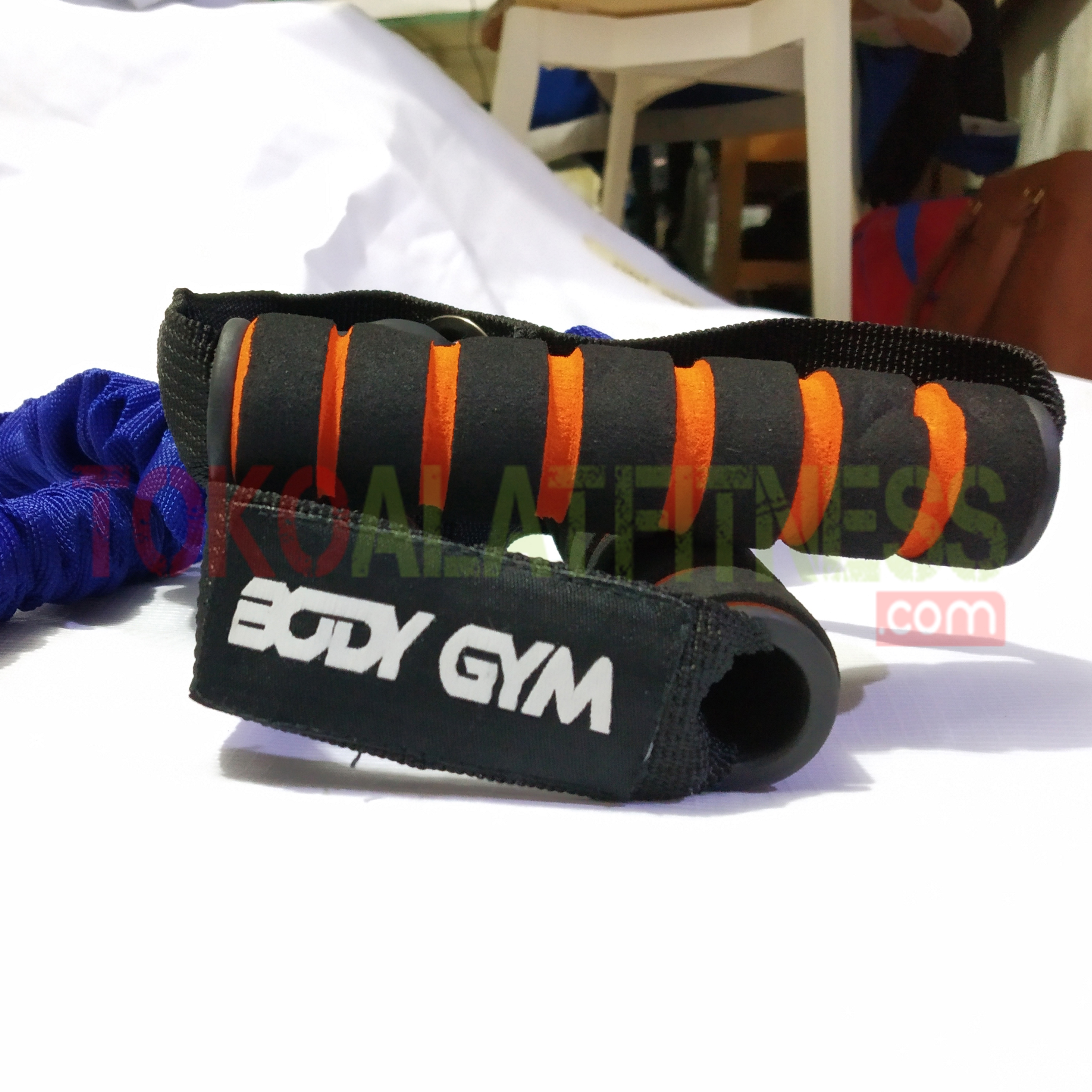 PALL ROPE BIRU ORI 2 WTM - Resistance Band / Strap with Handle Biru 25 Lbs Body Gym - ASSRB18B