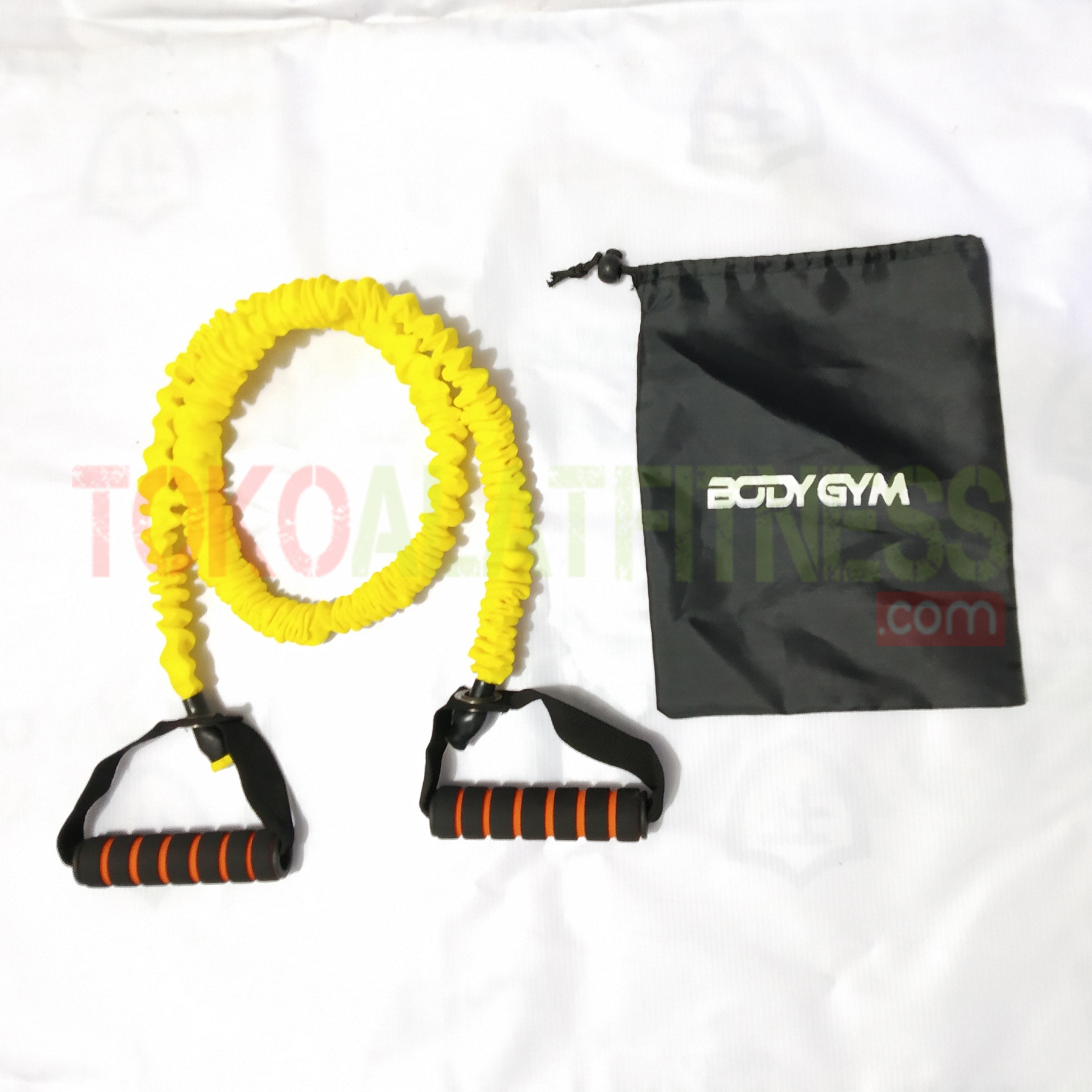 PALL ROPE KUNING ORI 1WTM - Resistance Band / Strap with Handle Kuning 15 Lbs Body Gym - ASSRB18