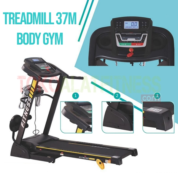 Treadmill BGD37M 2 WTM 1 - Sewa Alat Fitness - Body Gym Treadmill 1.25 HP DC SBGD37M