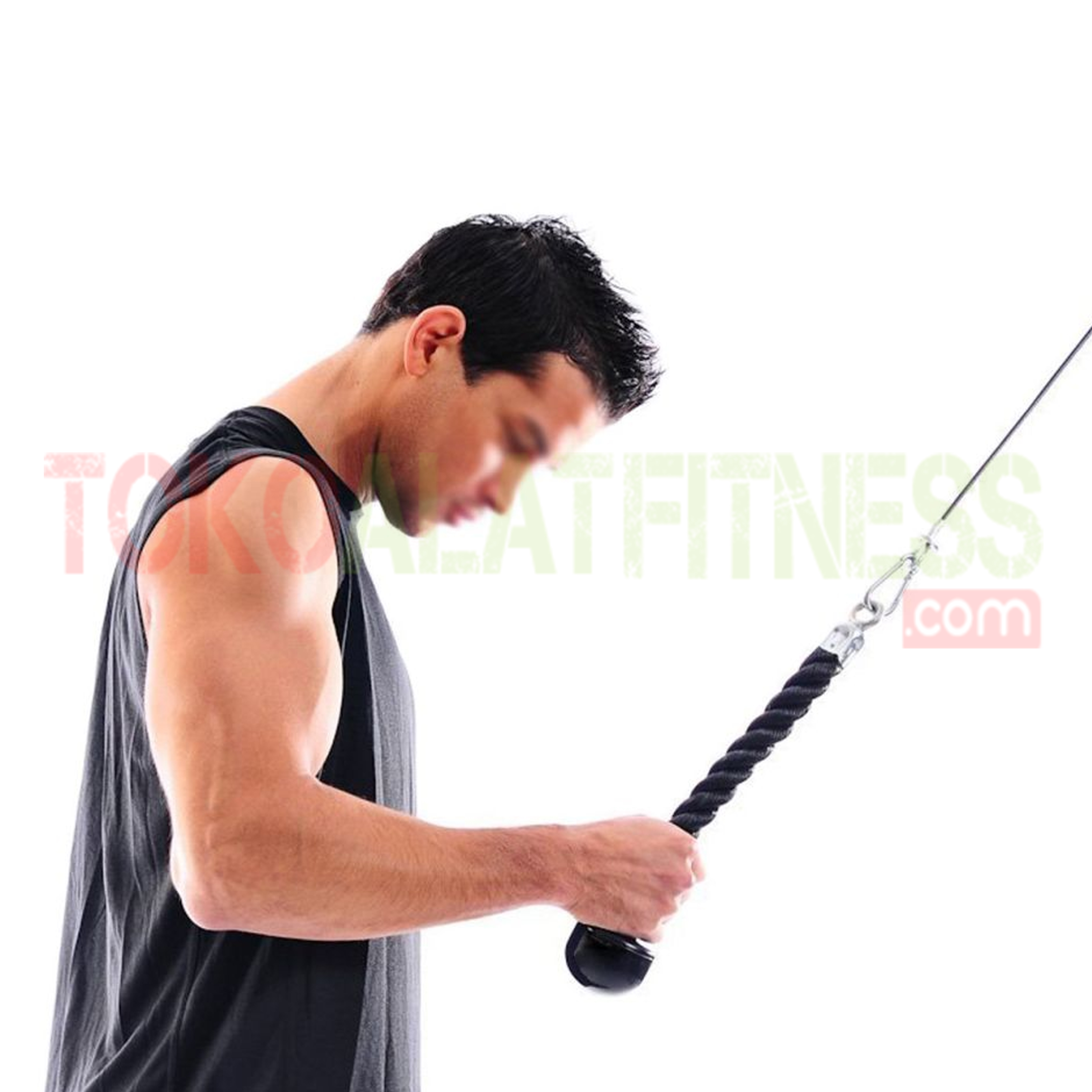 Handle Tricep Rope Single workout wtm - Handle Tricep Rope Single Body Gym - ASSAF44