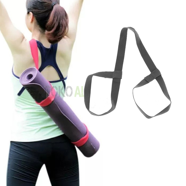 YOGA MAT STRAP GREY 6 - Yoga Mat Strap, Grey Body Gym