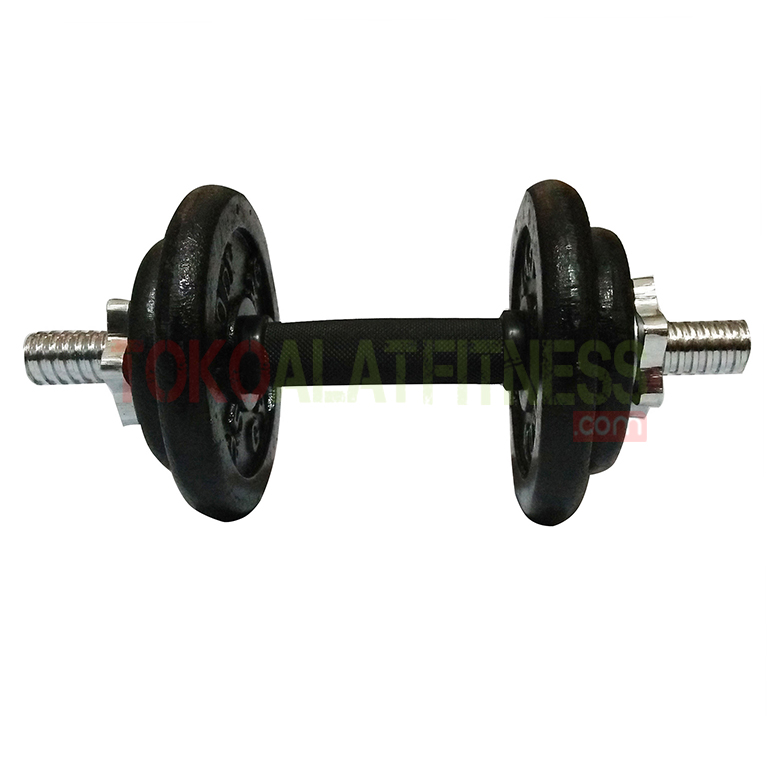 barbel 10.2 wtm - Adjustable Dumbell Set Iron 10 kg Body Gym