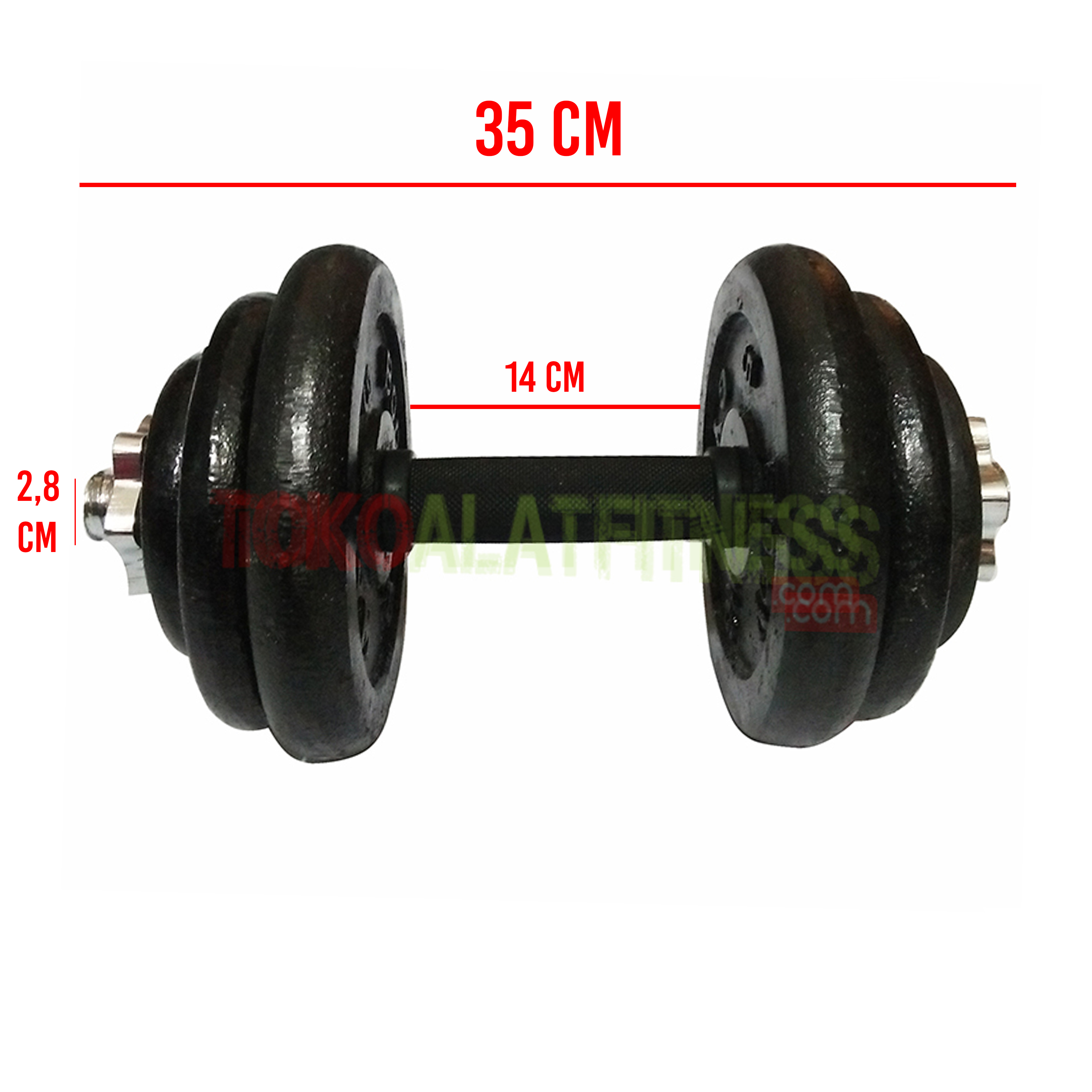 spesifikasi dumbell 1 20 kg - Adjustable Dumbell Set Iron 20 kg Body Gym
