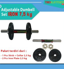 BANNER 75 KG 1 260x280 - Body Gym Adjustable Dumbell Set Iron 7,5 kg Alat Pemberat Dumbel Bongkar pasang