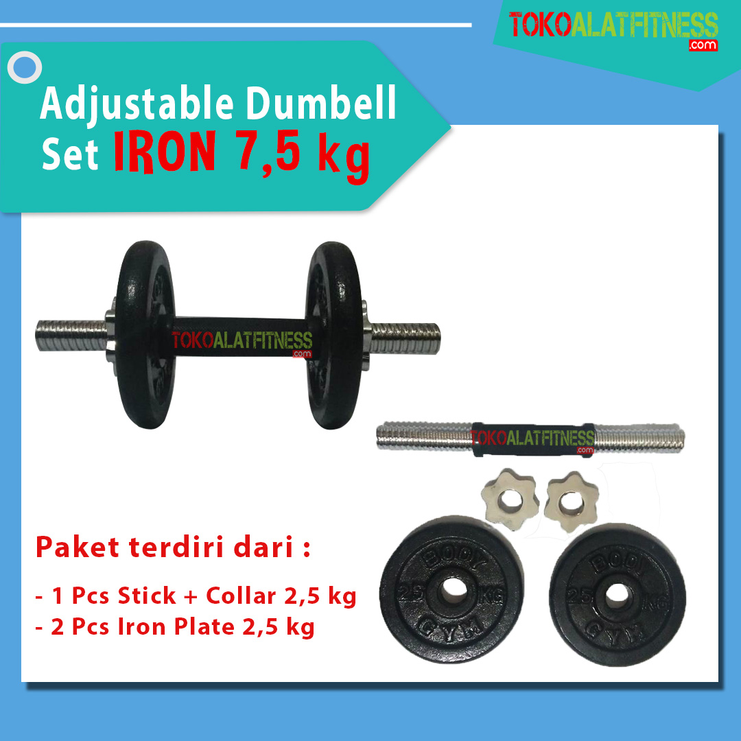 BANNER 75 KG 1 - Adjustable Dumbell Set Iron 7,5 kg Body Gym
