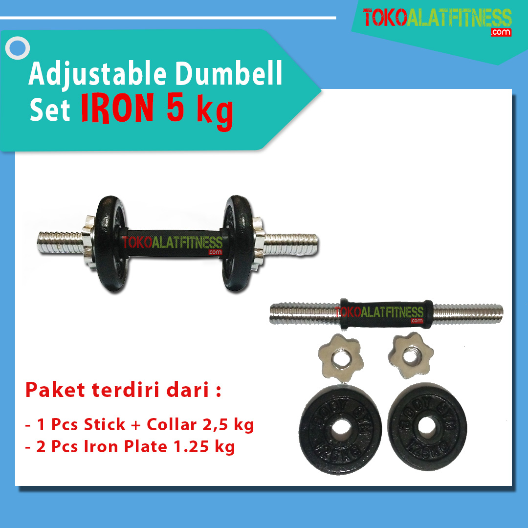 banner 5 KG - Adjustable Dumbell Set Iron 5 kg Body Gym