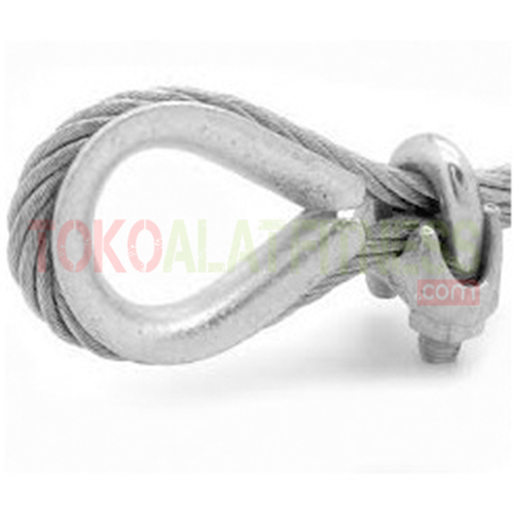 contoh pemakaian thmble clip rope - Wire Rope Clip 5mm Body Gym