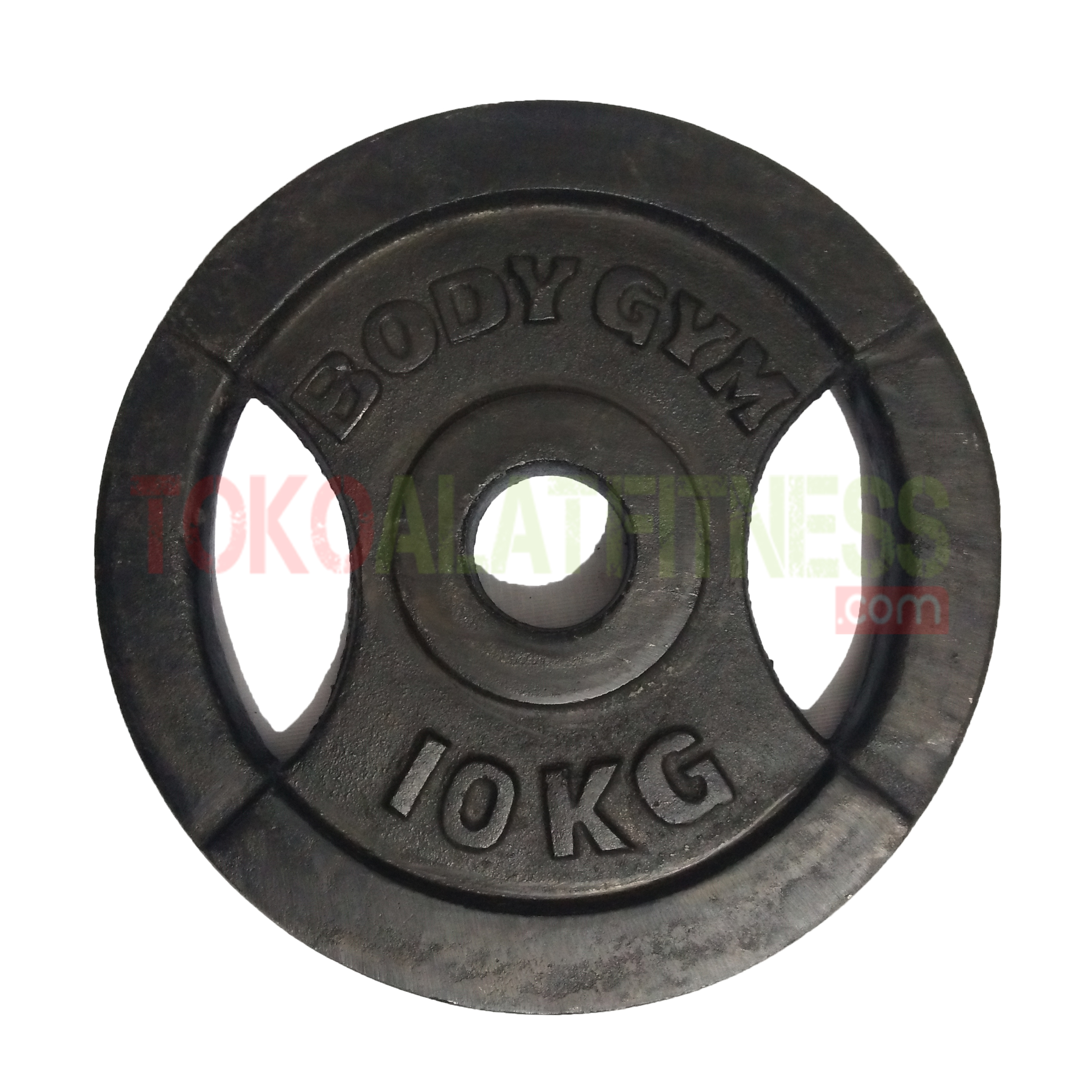 iron plate 10 kg 5 cm wtm - Iron Plate Grip 5cm 10 kg, Barbel Plate Besi Body Gym