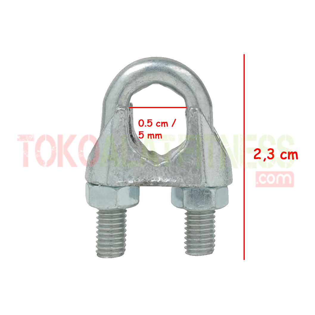 spek wire rope clip - Wire Rope Clip 5mm Body Gym