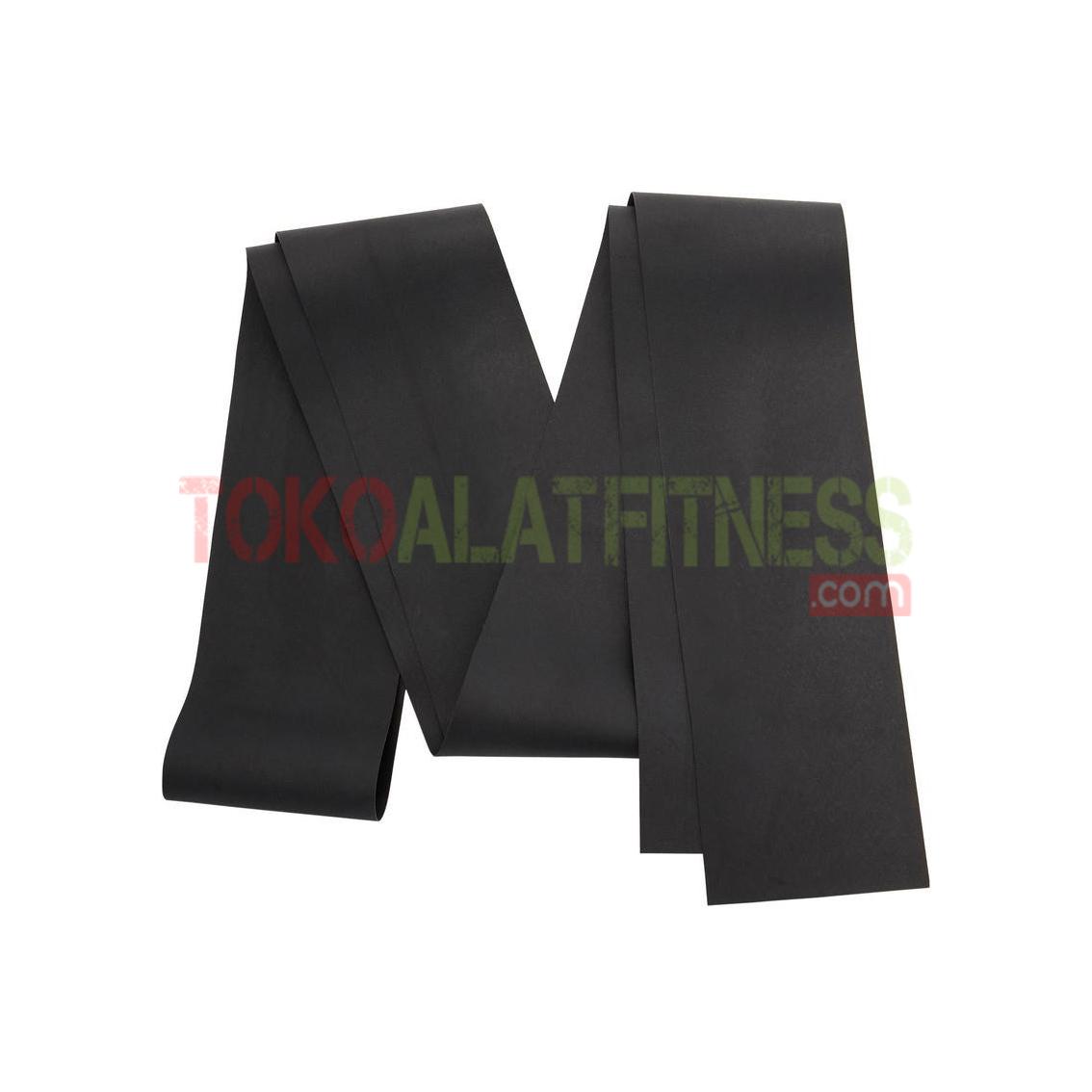 100 pilates resistance elastic band high wtm - Pilates Band Hard Hitam Body Gym