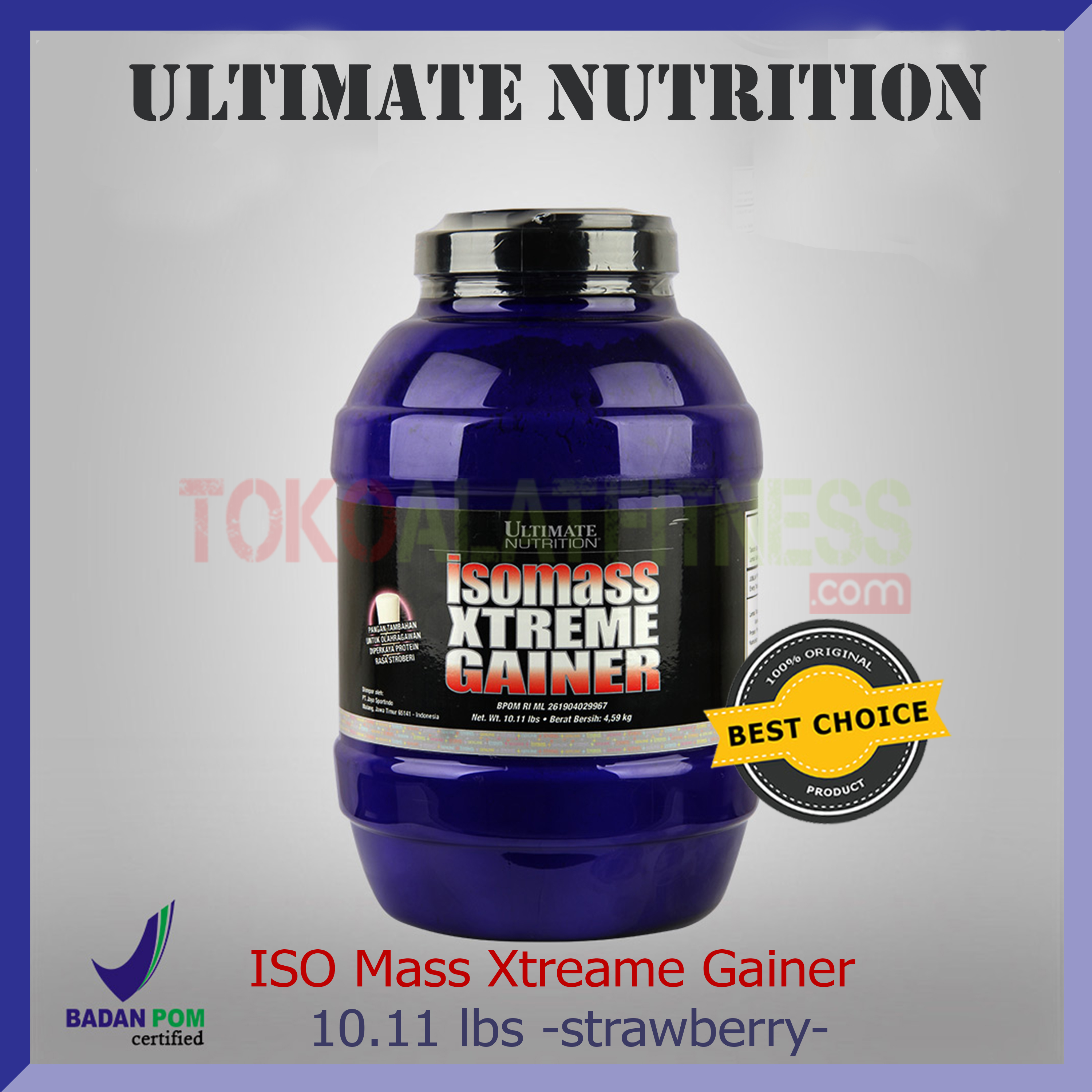 ULTIMATE NUTRITION ISO Mass Xtreme Gainer 10 - Suplemen Ultimate Iso Mass Xtreme Gainer Choco