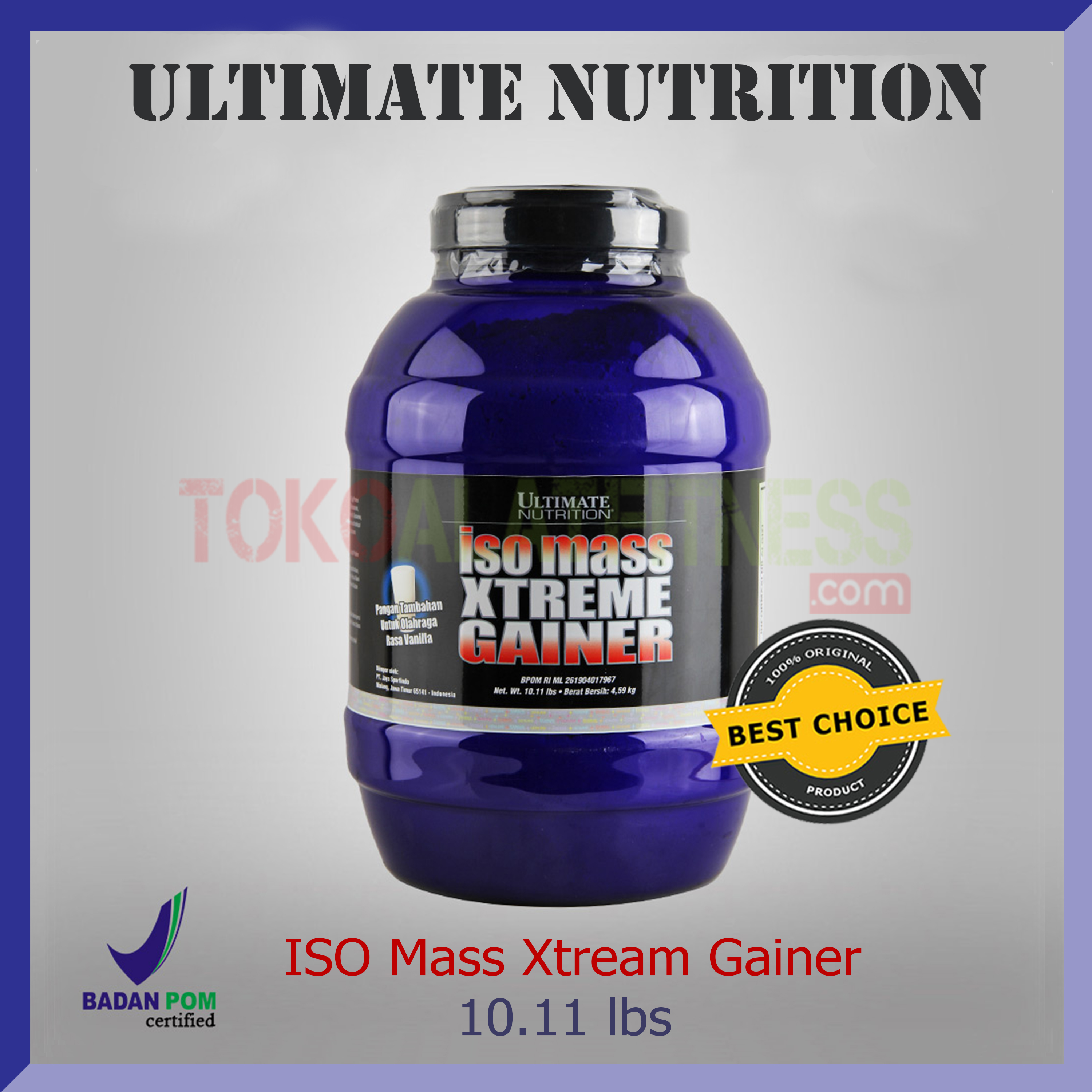 ULTIMATE NUTRITION ISO mass 1011 lbs - Suplemen Ultimate Iso Mass Xtreme Gainer Choco