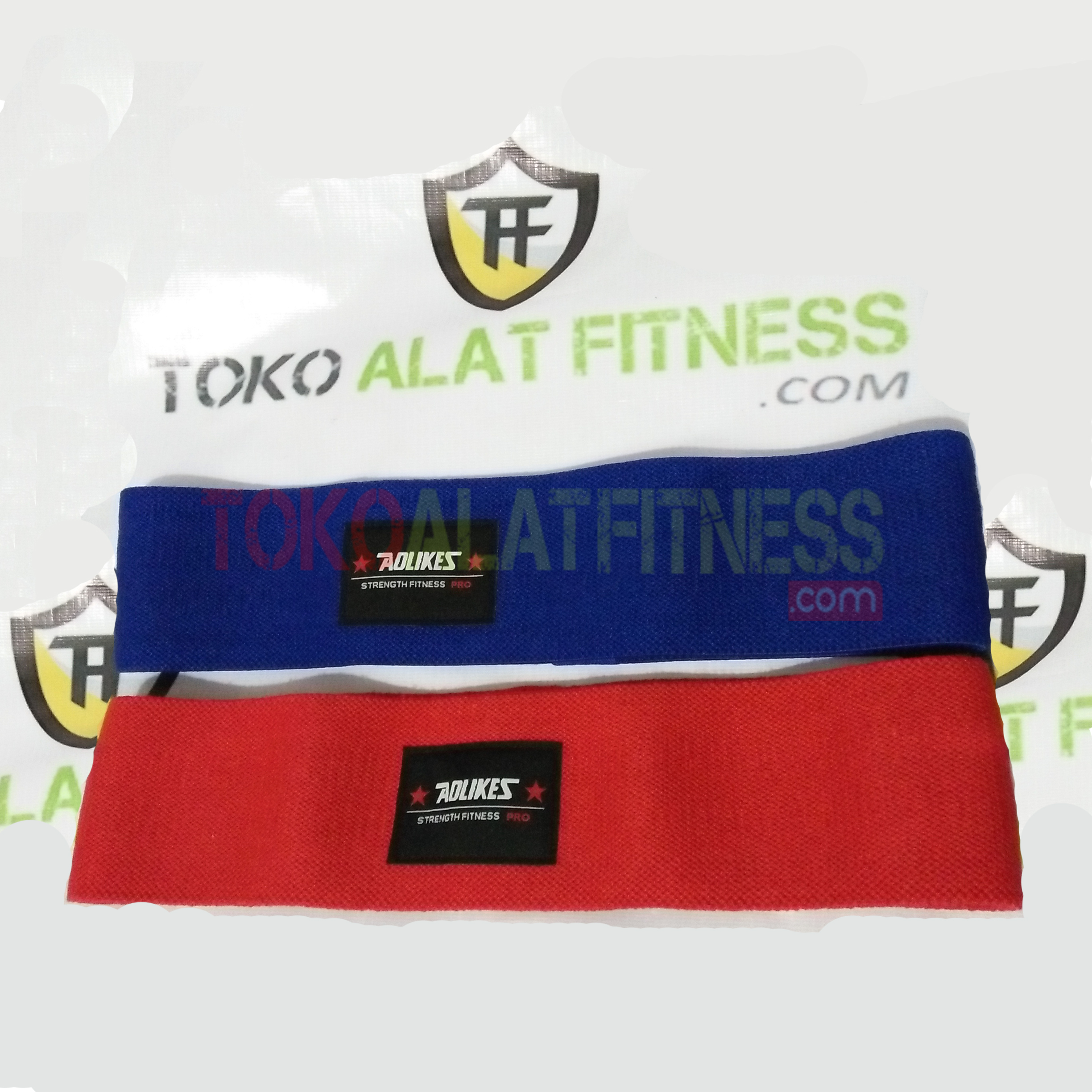 fa aolike blue red - Hips Resistance Band Red Aolikes - ASSP47